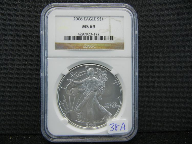 2006 Silver Eagle. Graded by NGC as MS69.