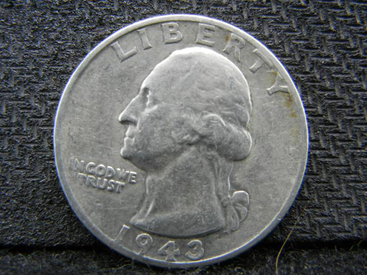 1943-S Washington Quarter, (Nice Grade), 90% Silver!