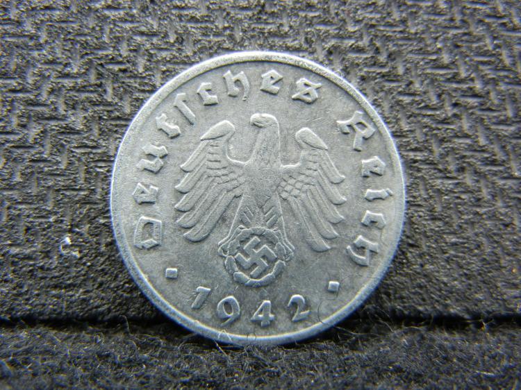 1942-A German 1 REICH PFENNIG
