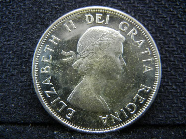 1959 Canadian 50 Cents - 80% Silver