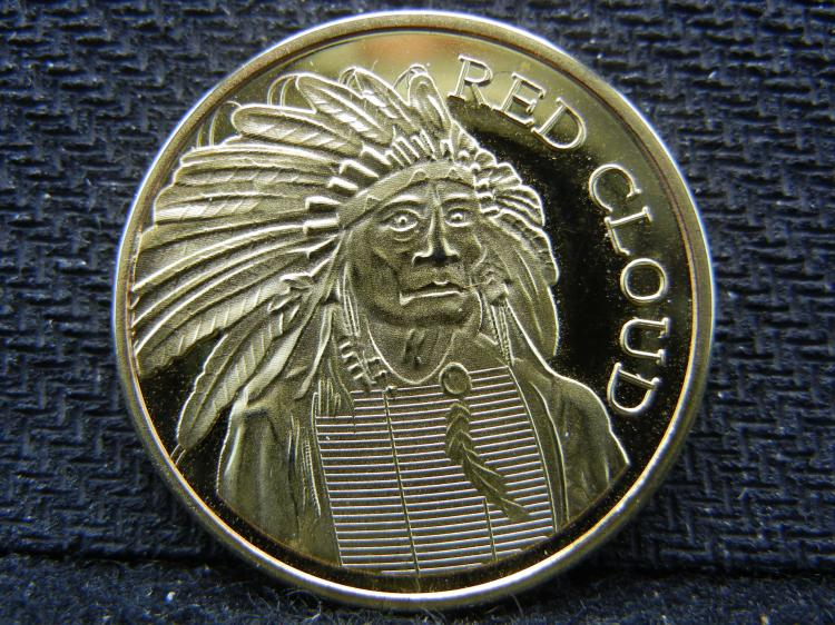 CLAD - Red Cloud Half Ounce 100 Mills 24kt Gold Round