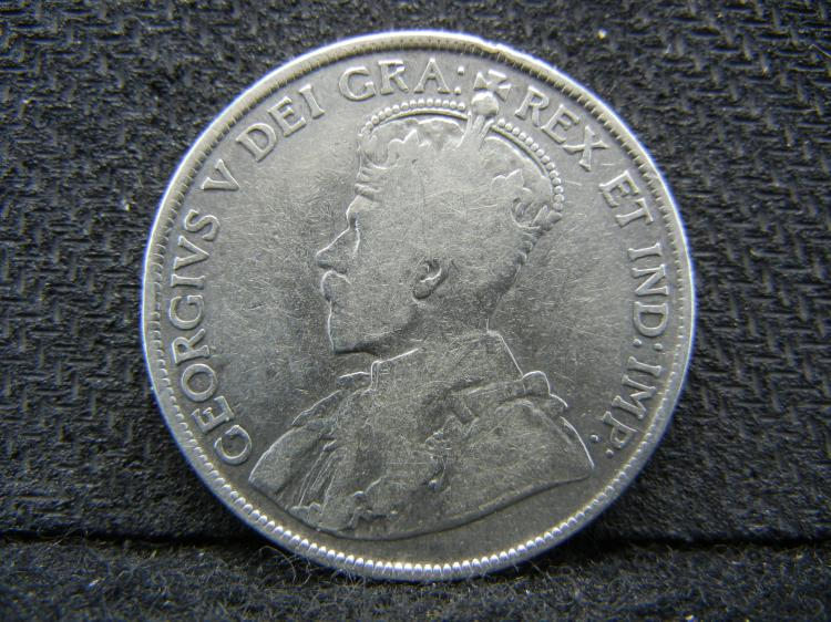 1919 Newfoundland 50 Cents - 92.5% Silver