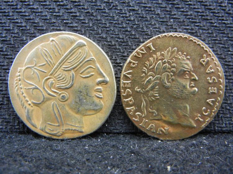 2 Replica Ancient Greece Coins