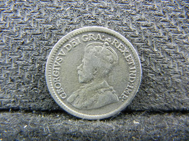 1918 Canadian 5 Cents - 92.5% Silver