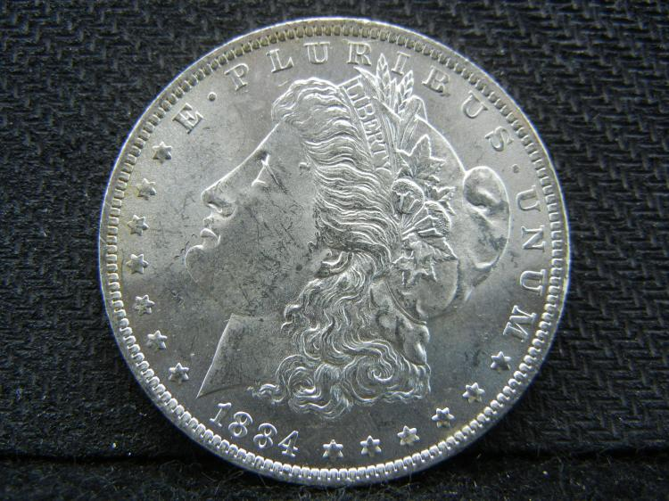 1884-0 PL (Proof Like), MS65, Morgan Silver Dollar, (Only 9.7 Mill EVER Minted), Huge Luster, Beautiful Coin!