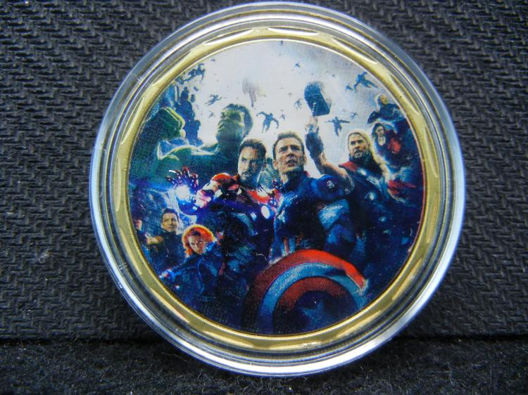 AVENGERS, Gold Enhanced, Beautiful Mirror/Proof, Encapsulated For Future Preservation, Great Gift!