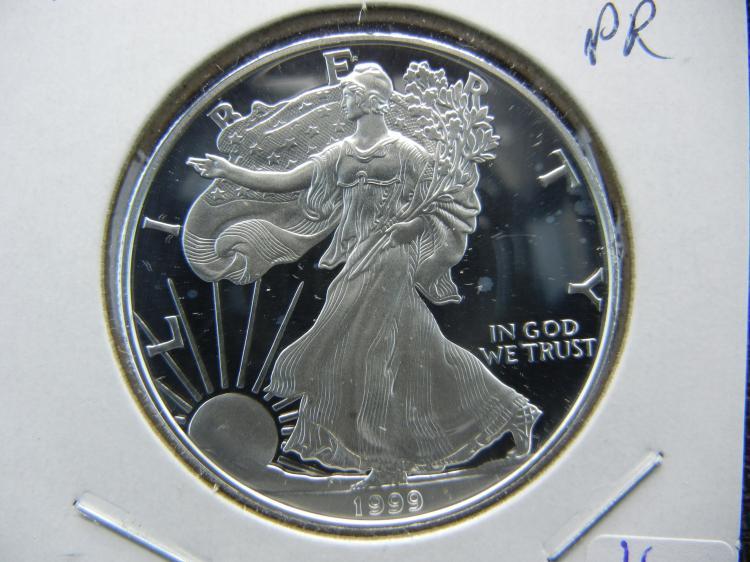 1999 Deep Cameo Proof Silver Eagle.