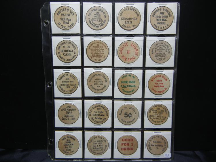 20 Wooden Nickels.