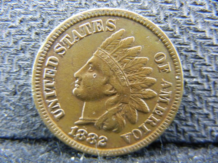 1882 Indian Head cent. XF detail.