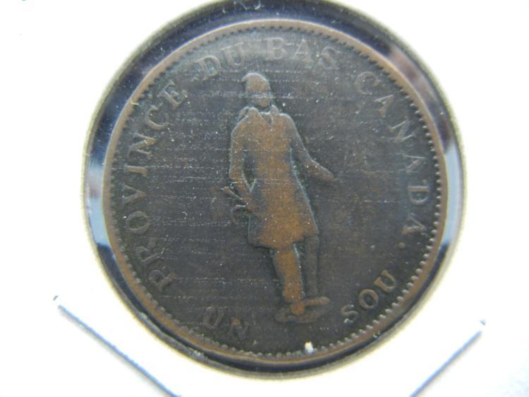 1837 Quebec Canada ½ penny. Fine.