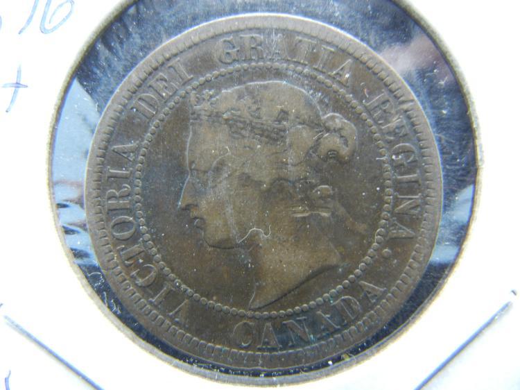 1876-H Canada Large cent. Fine. Birmingham Mint.