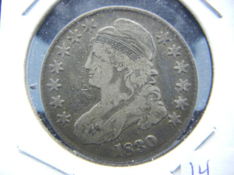 1830 Capped Bust ½ Dollar. Very Fine. Jackson Era. Original.