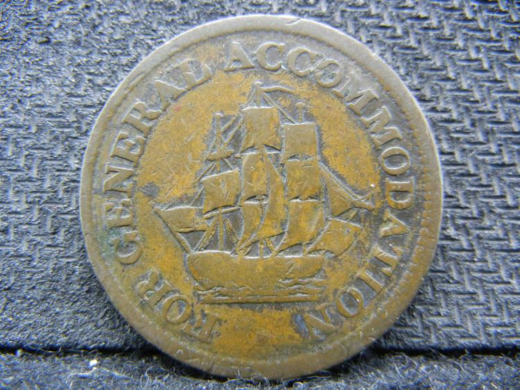 Early 1800s Canada Accommodation ½ penny. Good. *Copper preferable to paper*.
