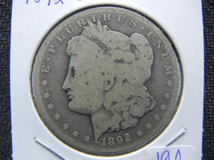 1892-CC Morgan Dollar. A Very RARE CC.