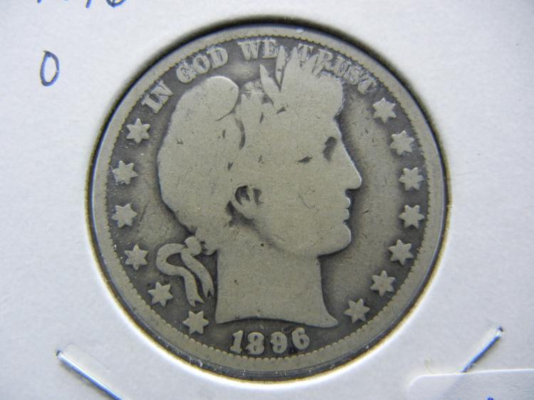 1896-O Barber ½ Dollar. Tough Date!