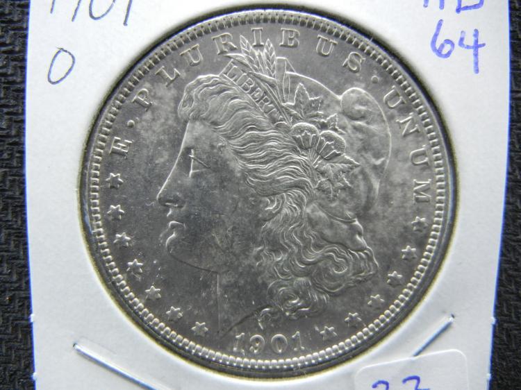 1901-O Morgan Dollar. MS64. Better coin!
