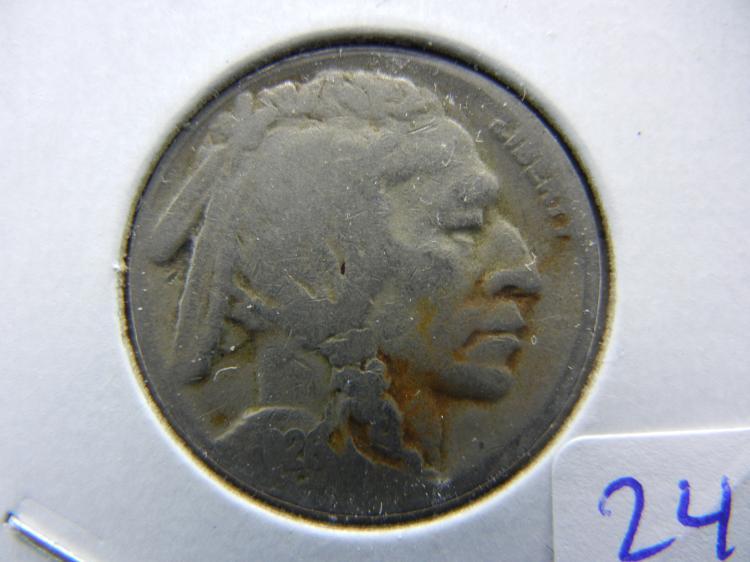 1926-S Buffalo Nickel. Semi-key. Good.