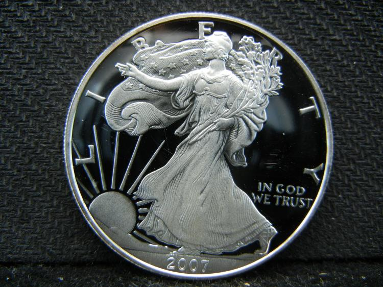 2007 Deep Cameo Proof Silver Eagle.