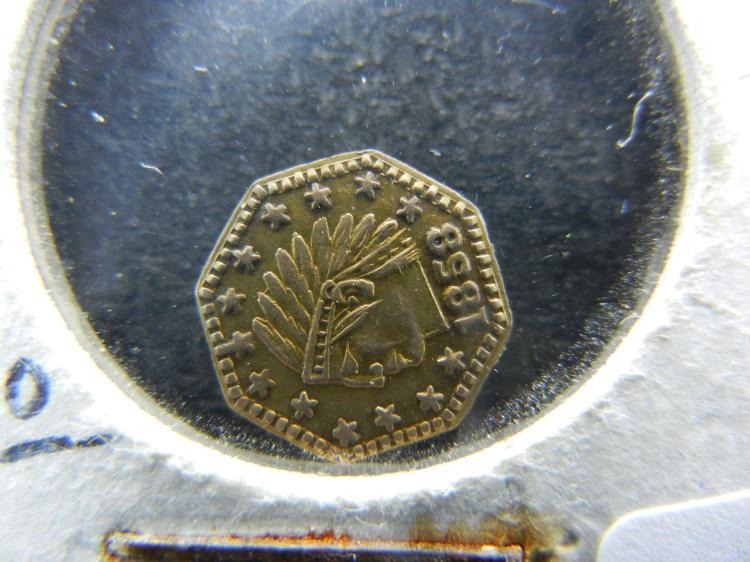 1858 California Gold. Gold.