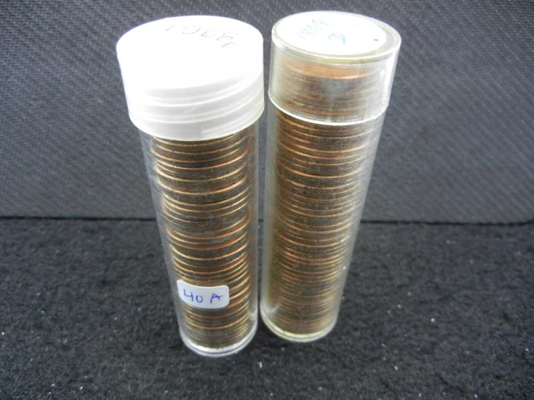 1968-D & 1969-D BU Cent rolls. Absolutely gorgeous red coins!