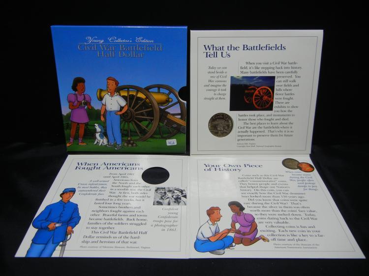 1995-S Civil War Battlefield ½ Dollar. Brilliant UNC. Good for kiddies to collect.
