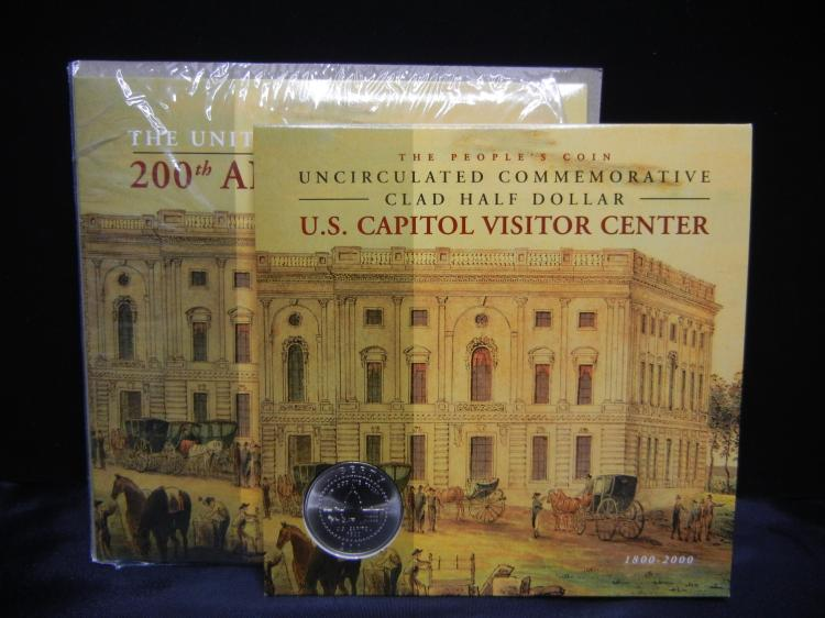 2001-P US Capitol ½ Dollar. Almost destroyed by terrorists that year. New govt pack!
