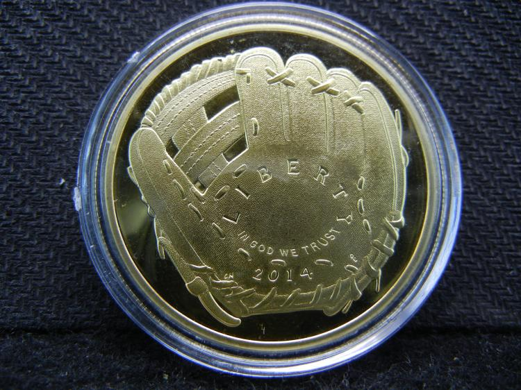 Baseball, Gold Enhanced, Beautiful Mirror/Proof, Encapsulated For Future Preservation, Great Gift!