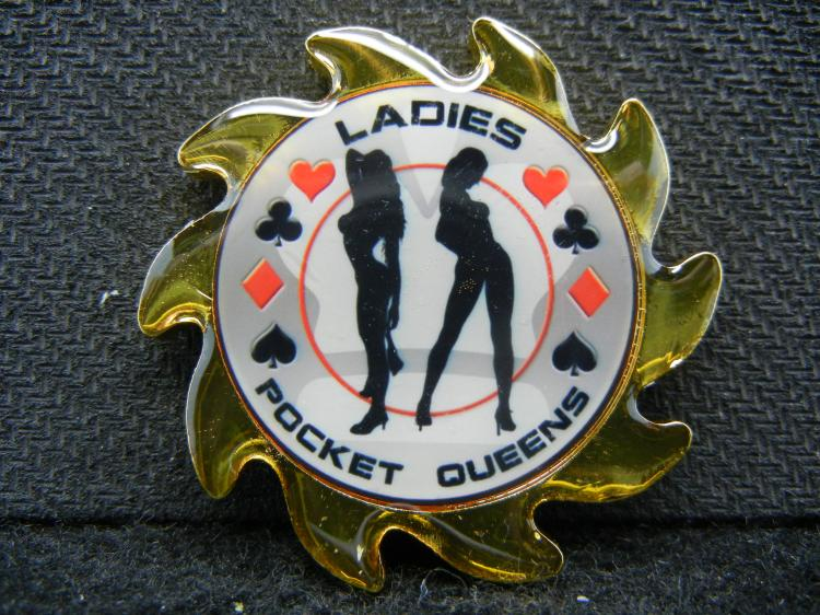 Poker Card-Guard, (LADIES-POCKET QUEENS), Beautiful Mirror/Proof, Encapsulated For Future Preservation!