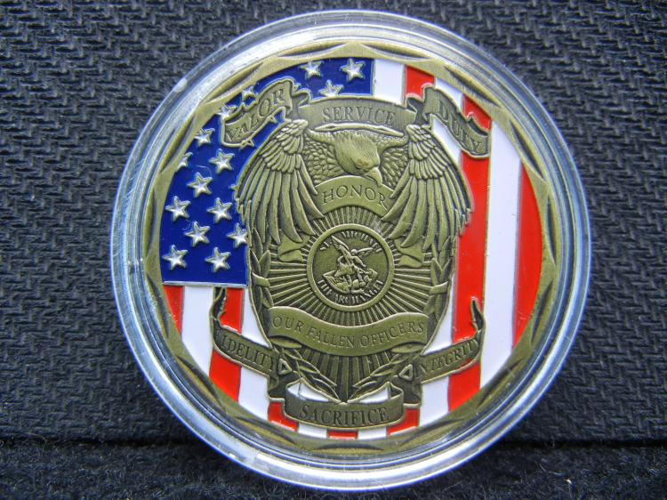 OUR FALLEN OFFICERS, Beautiful Mirror/Proof, Encapsulated For Future Preservation, Great Gift!