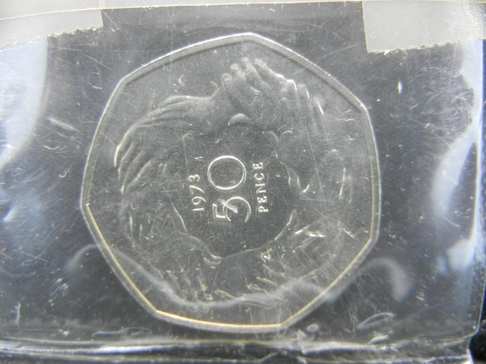 1973 England 50 Pence with Case