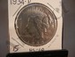 1934 D Peace Dollar MS60