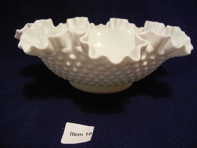 fenton milk glass bowl
