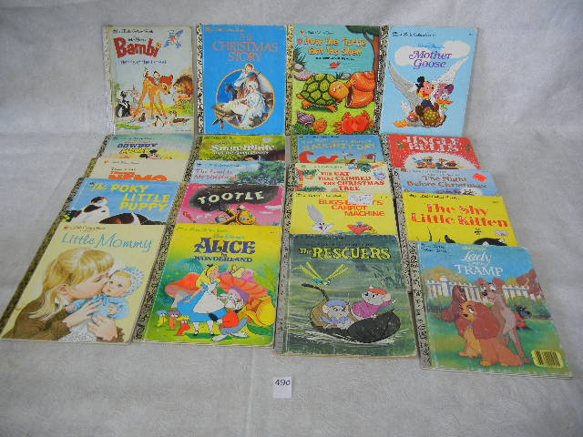 Little Golden Books- Lot of 10 (1-PB) (2-Scuffy-1955 HC and SC) Vintage-Poky Pup