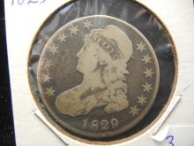 1829 Capped Bust Half Dollar.  Very Fine.