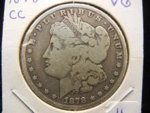 1878-CC Morgan Dollar.  Very Good.