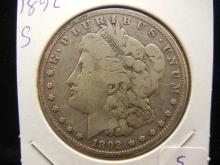 1892-S Morgan Dollar.  Scarce.