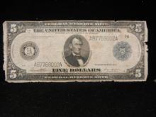 1914 $5 Boston Blue Seal