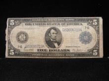 1914 $5 Chicago Blue Seal