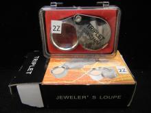 Triplet Jewelers Loupe 30x21 mm.