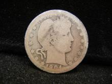 1904 Barber Quarter