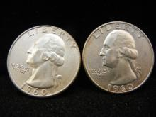 1960-P & D Washington Quarters - 90% Silver