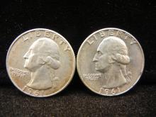1961-P & D Washington Quarters - 90% Silver