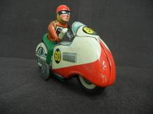 Tin Motorcycle and Rider