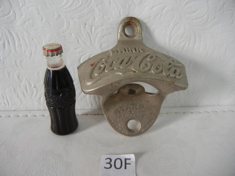 coca cola wall mount bottle opener starr pat brown co m. Black Bedroom Furniture Sets. Home Design Ideas