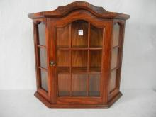 3 Shelf Wood & Glass Knick Knack Display Shelf From Estate Collectibles- Serial No. 08,Mersman/Waldron, Celina, OH