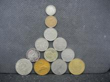 12 Foreign Coins