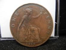 1919 Great Brittan One Penny