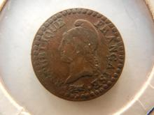 1795- 99 France One Centime