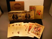 Gold Plated Deck of Cards W/COA Gold Foil  99.9% pure 24 K. Gold