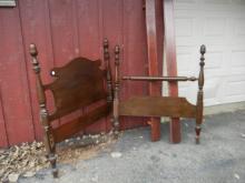 Wood Head Board, Foot Board and Railings - BUYER MUST ARRANGE SHIPPING